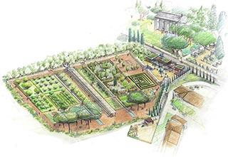 Projets parc et jardin for Caumont sur durance jardin romain